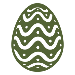 Egg easter painted easter egg easter egg pattern spot wave silhouette