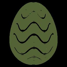 Huevo de Pascua pintado huevo de Pascua huevo de Pascua patrón punto ola silueta