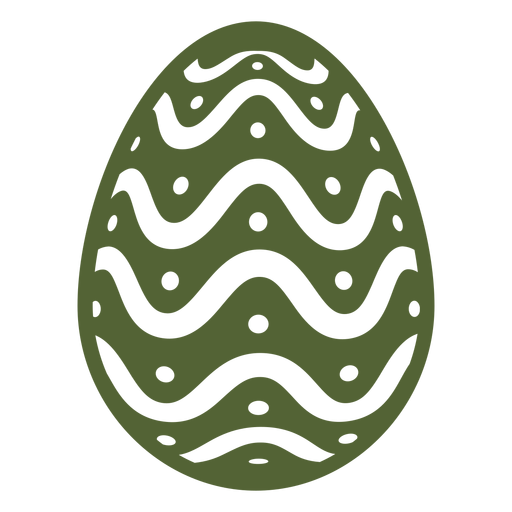 Egg easter painted easter egg easter egg pattern spot wave silhouette Transparent PNG