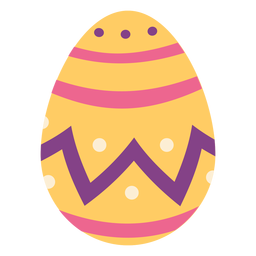 Ei Ostern gemalt Osterei Ostereimusterstelle Zickzackstreifen flach
