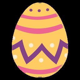 Huevo de Pascua pintado huevo de Pascua huevo de Pascua patrón punto zigzag raya plana