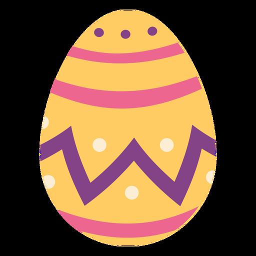 Egg easter painted easter egg easter egg pattern spot zigzag stripe flat Transparent PNG