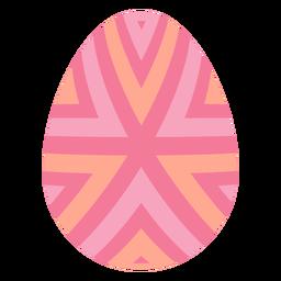 Ei Ostern gemalter Osterei Ostereimusterstreifen flach