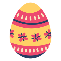 Egg easter painted easter egg easter egg pattern stripe petal flower flat