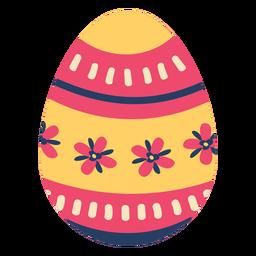 Ei Ostern gemalte Osterei Ostereimusterstreifen-Blumenblattblume flach