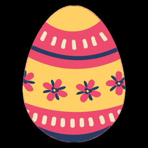 Egg easter painted easter egg easter egg pattern stripe petal flower flat Transparent PNG