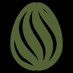 Ei Ostern gemaltes Osterei Ostereimuster-Streifenschattenbild