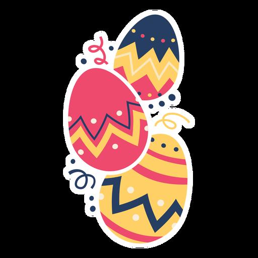 Egg easter painted easter egg easter egg pattern three flat