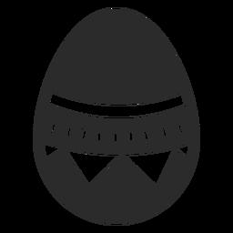 Huevo pascua pintado huevo de pascua huevo de pascua patrón triangular raya silueta