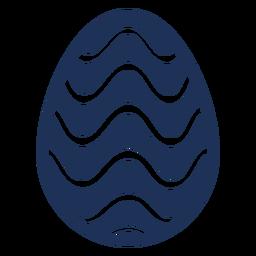 Ei Ostern gemaltes Osterei Ostereimuster-Wellenschattenbild