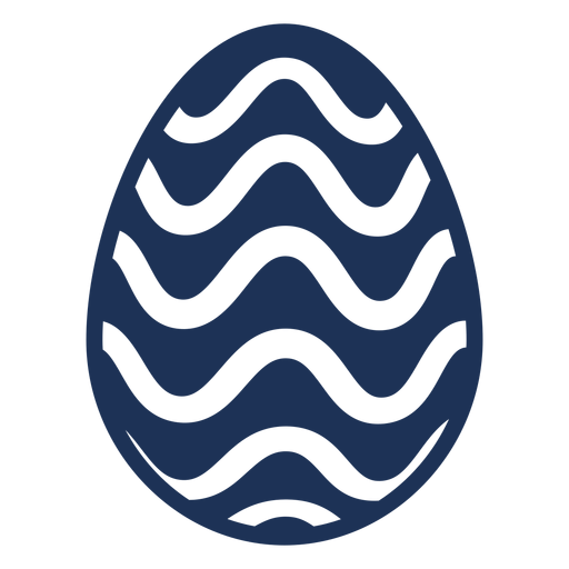 Egg easter painted easter egg easter egg pattern wave silhouette Transparent PNG