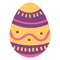 Egg easter painted easter egg easter egg pattern wave spot stripe flat