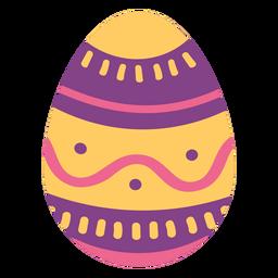 Ei Ostern gemalter Osterei Ostereimusterwellen-Stellenstreifen flach