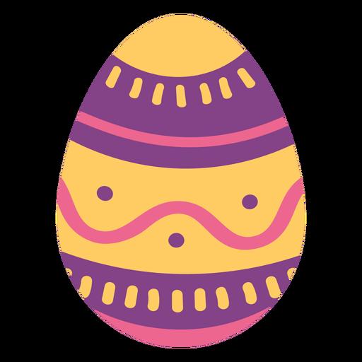 Egg easter painted easter egg easter egg pattern wave spot stripe flat Transparent PNG