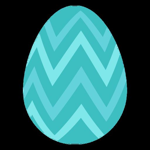 Huevo de pascua pintado huevo de pascua huevo de pascua patrón zigzag plano