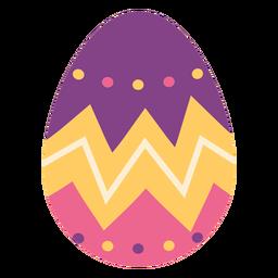 Ei Ostern gemaltes Osterei Ostereimuster-Zickzackpunkt flach