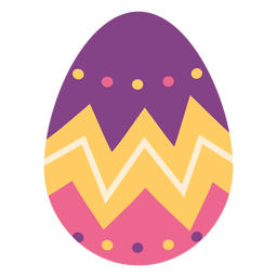 Huevo de Pascua pintado huevo de Pascua huevo de Pascua patrón zigzag punto plano