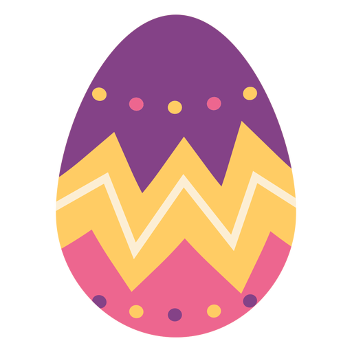 Egg easter painted easter egg easter egg pattern zigzag spot flat Transparent PNG