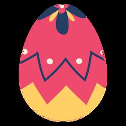 Ei Ostern gemaltes Osterei Ostereimusterzickzackpunktblumenblatt flach