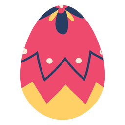 Huevo pascua pintado huevo de pascua huevo de pascua zigzag punto pétalo plano