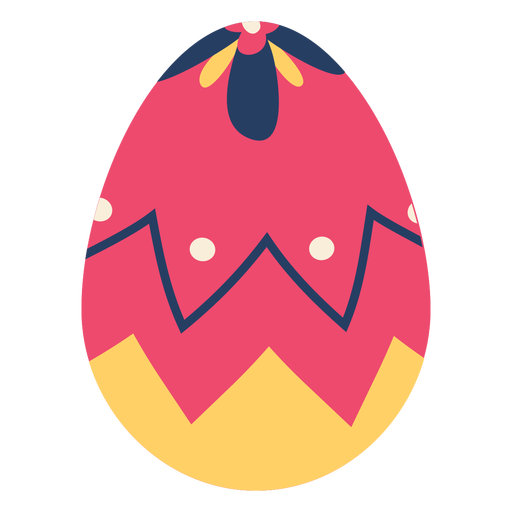 Egg easter painted easter egg easter egg pattern zigzag spot petal flat
