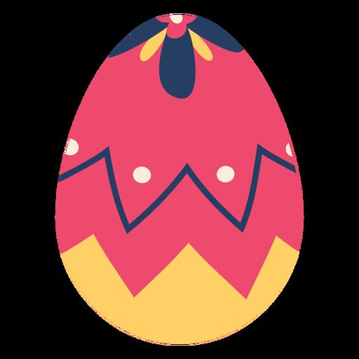 Huevo pascua pintado huevo de pascua huevo de pascua zigzag punto pétalo plano Transparent PNG