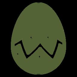Ei Ostern gemaltes Osterei Ostereimuster-Zickzackpunktschattenbild