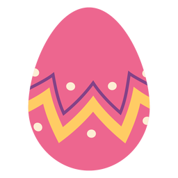 Ei Ostern gemaltes Osterei Ostereimusterzickzackpunktstreifen flach