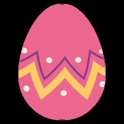 Huevo pascua pintado huevo de pascua huevo de pascua zigzag punto raya plana