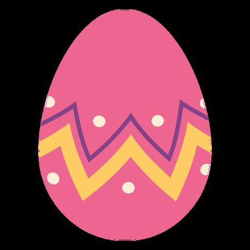 Huevo pascua pintado huevo de pascua huevo de pascua zigzag punto raya plana Transparent PNG