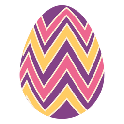Egg easter painted easter egg easter egg pattern zigzag stripe flat
