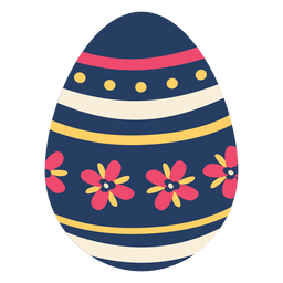 Ei Ostern gemalter Osterei Ostereiblumenblattblumenmuster-Stellenstreifen flach