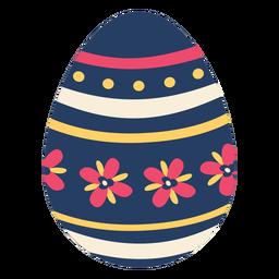 Huevo de Pascua pintado huevo de Pascua huevo de Pascua pétalo patrón de flores punto raya plana