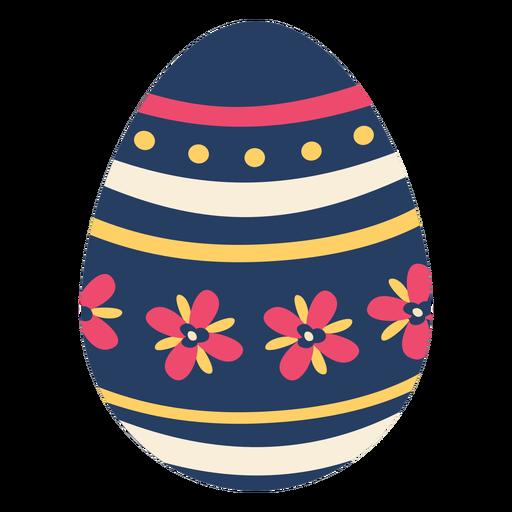 Egg easter painted easter egg easter egg petal flower pattern spot stripe flat Transparent PNG