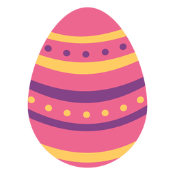 Egg easter painted easter egg easter egg spot pattern stripe flat