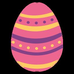 Ei Ostern gemalter Osterei Ostereifleckenmusterstreifen flach