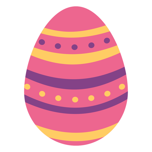 Egg easter painted easter egg easter egg spot pattern stripe flat Transparent PNG