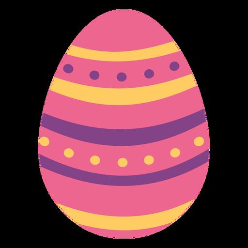 Huevo de pascua pintado huevo de pascua huevo de pascua patr?n de puntos raya plana