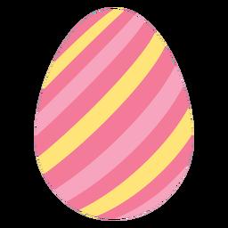 Ei Ostern gemaltes Osterei Osterei-Streifenmuster flach