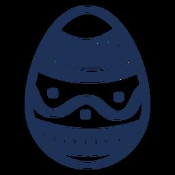 Ei Ostern gemaltes Osterei Ostereiwellenmuster-Stellenschattenbild