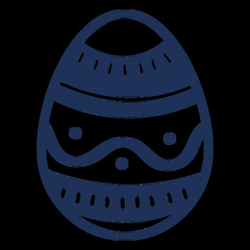 Huevo de Pascua pintado huevo de Pascua huevo de Pascua patrón de onda punto silueta Transparent PNG
