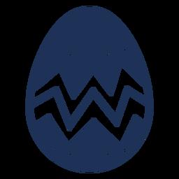 Ei Ostern gemaltes Osterei Osterei-Zickzackmuster-Stellenschattenbild