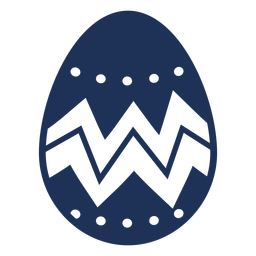 Huevo pascua pintado huevo de pascua huevo de pascua zigzag patrón punto silueta