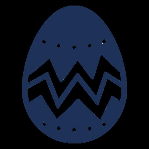 Egg easter painted easter egg easter egg zigzag pattern spot silhouette Transparent PNG