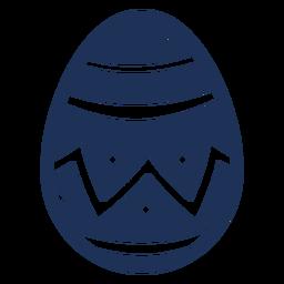 Ei Ostern gemaltes Osterei-Osterei-Zickzackstreifenmuster-Stellenschattenbild