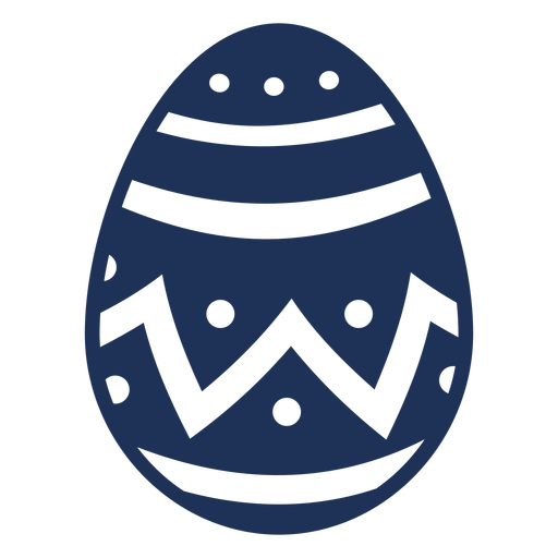 Egg easter painted easter egg easter egg zigzag stripe pattern spot silhouette Transparent PNG