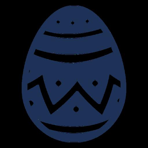 Egg easter painted easter egg easter egg zigzag stripe pattern spot silhouette