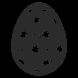 Huevo pascua pintado huevo de pascua punto estrella huevo de pascua patrón silueta
