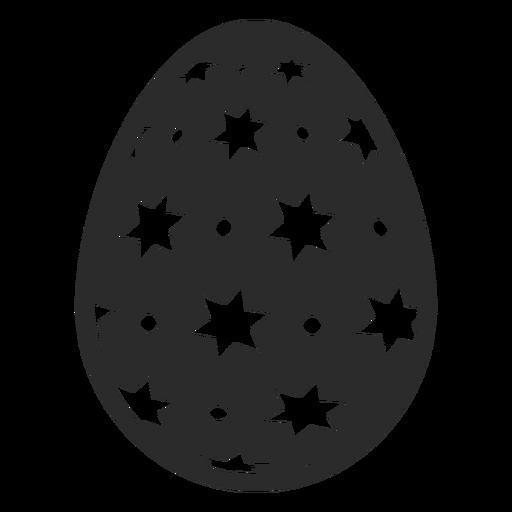 Egg easter painted easter egg spot star easter egg pattern silhouette