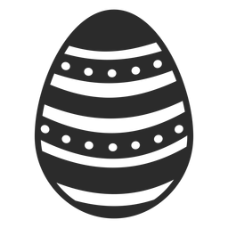 Egg easter painted easter egg spot stripe easter egg pattern silhouette